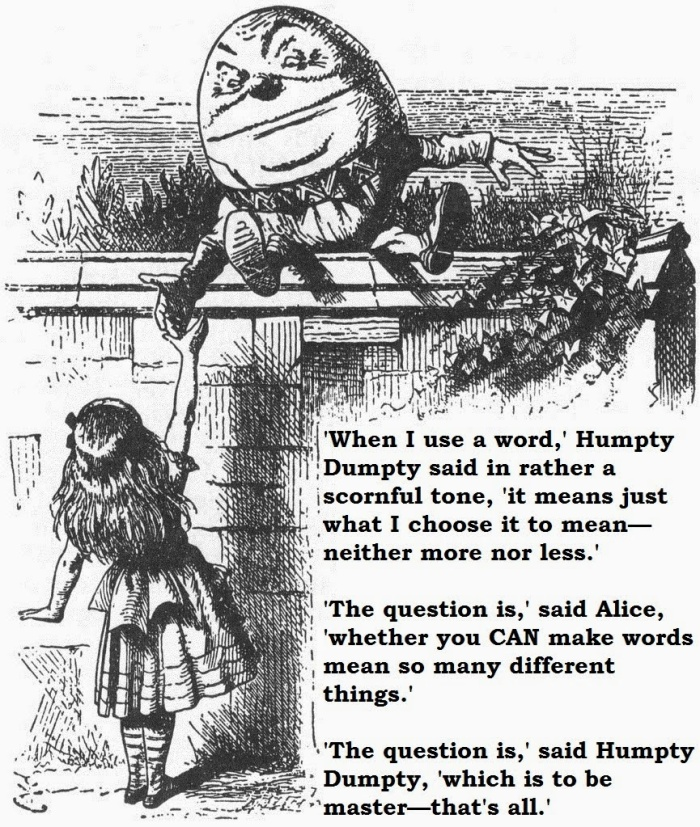 Meaning according to HumptyDumpty