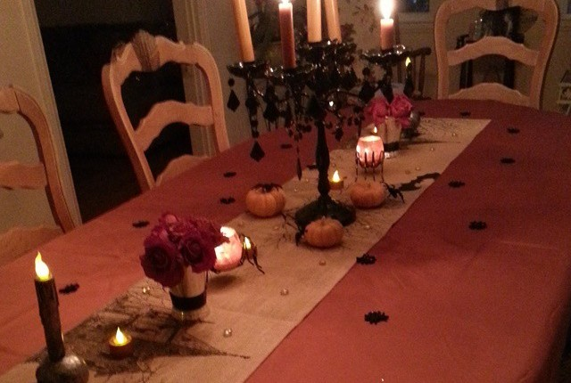 A banquet table for Dia de LosMuertos