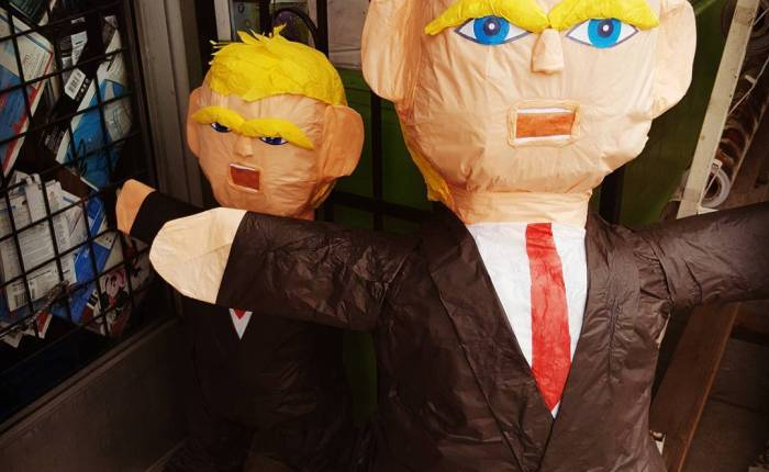 The proprietor at the local piñata place says these are empty.#BeatTrump