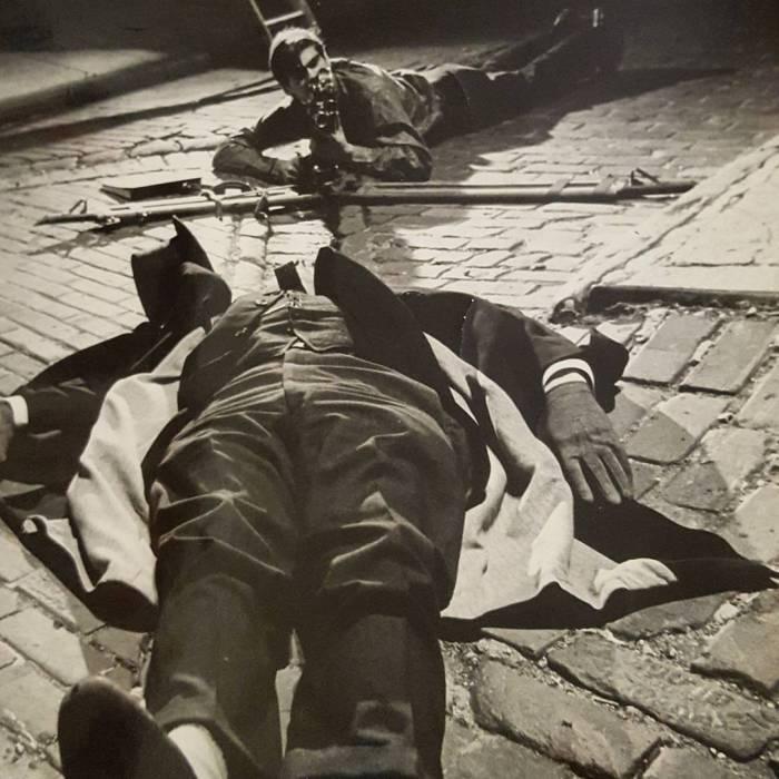Caleb Deschanel shooting FRATRICIDE starring RichardMacksey