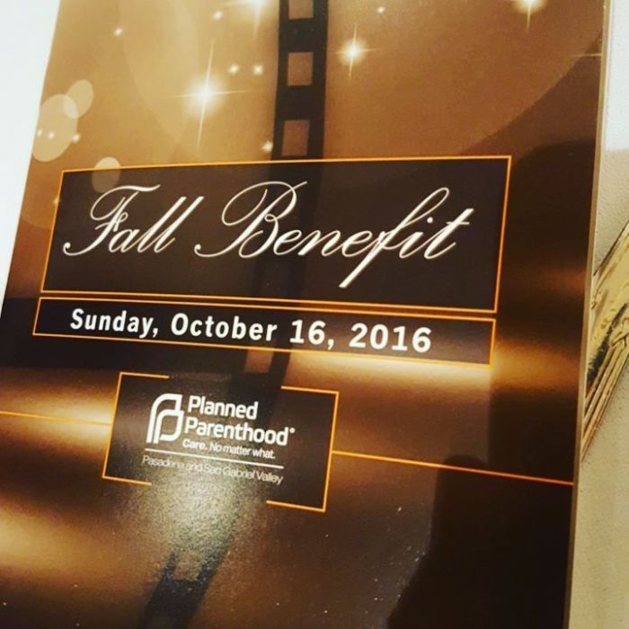 Fall Benefit for Planned Parenthood Pasadena and San GabrielValley