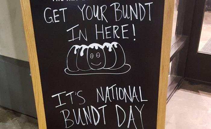 Get your Bundt inhere