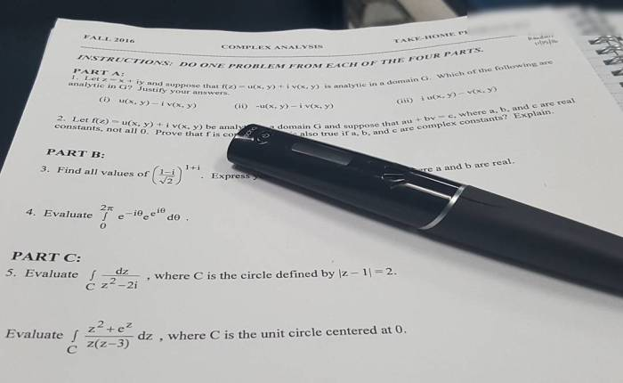 The first quarter of Complex Analysis is slowly drawing to aclose
