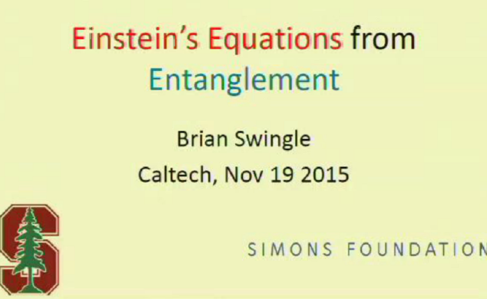 Einstein's Equations FromEntanglement