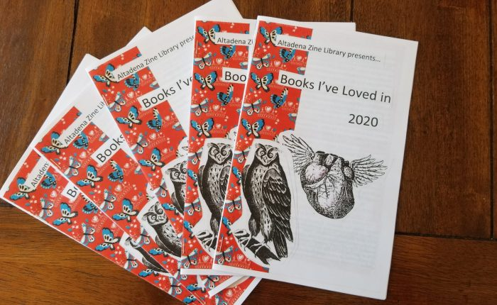 """Altadena Library zines and """"Books I've Loved in2020"""""""